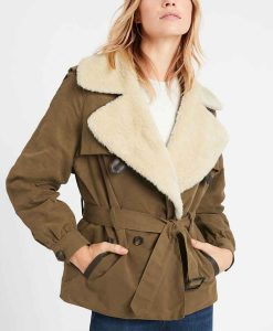 Sarah Jeffery Charmed S03 Maggie Vera Shearling Belted Jacket