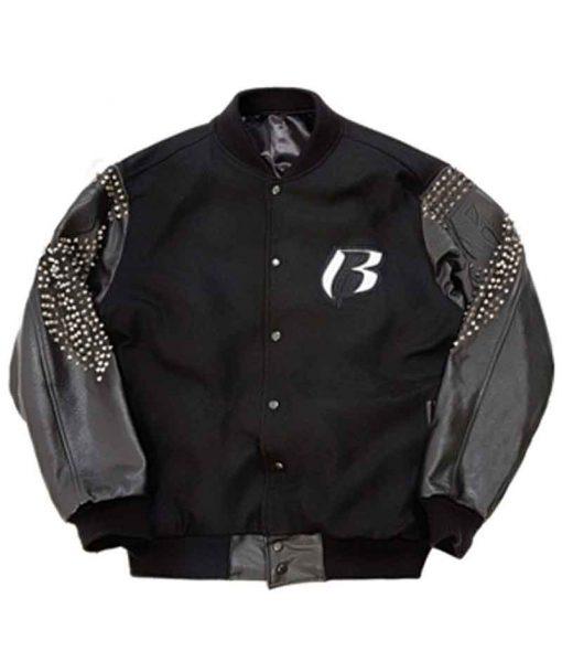 DMX Ruff Ryders Black Letterman Jacket