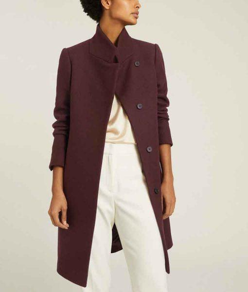 Danielle Rose Russell Legacies S03 Hope Mikaelson Maroon Coat