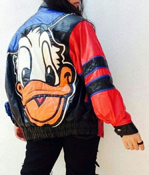 Donald Duck Bomber Leather Jacket