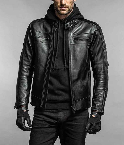 Engine Hawk Leather Jacket