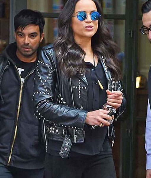 F9 Letty Ortiz Leather Studded Jacket