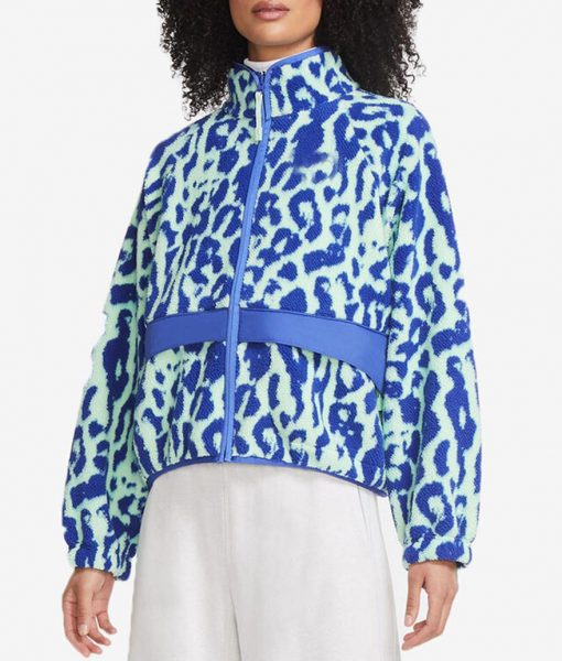 Legacies S03 Lizzie Saltzman Leopard Sherpa Jacket