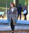 Madeline Brewer Separation Samantha Houndstooth Coat