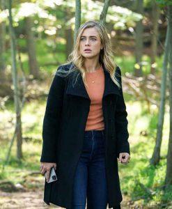 Manifest S03 Michaela Stone Black Wool-blend Coat