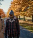 Master of None Dev Plaid Jacket With Shearling Collar