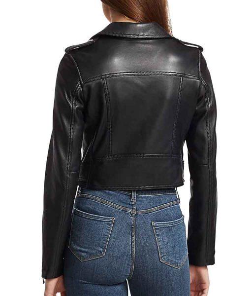 Kung Fu 2021 Nicky Shen Black Cropped Leather Jacket
