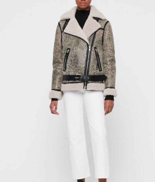 Olivia Liang Kung Fu 2021 Nicky Shen Shearling Jacket