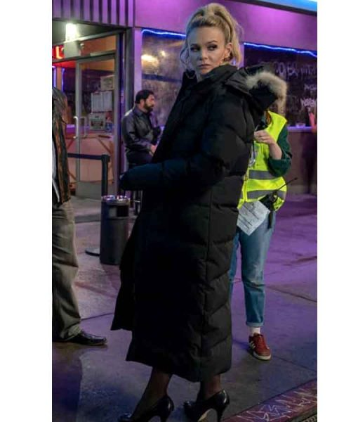 Promising Young Woman Cassandra Black Coat With Hood