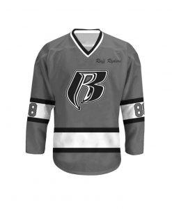 Ruff Ryders 88 Grey Hockey Jersey For Unisex