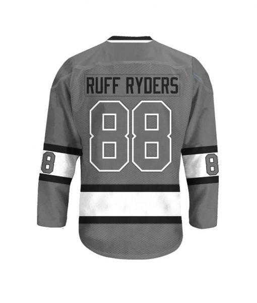 Ruff Ryders 88 Grey Hockey Jersey