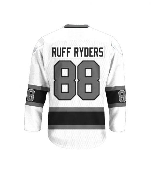 Ruff Ryders 88 White Unisex Hockey Jersey