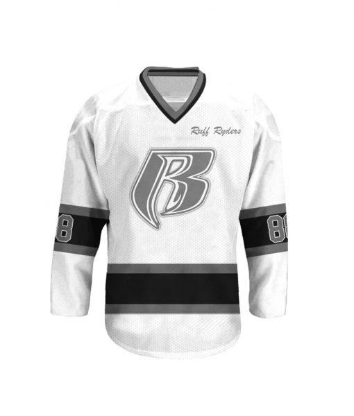 Ruff Ryders 88 White Hockey Jersey