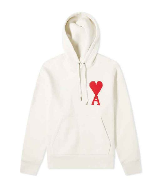 Ted Lasso Keeley White & Red Heart A Hoodie
