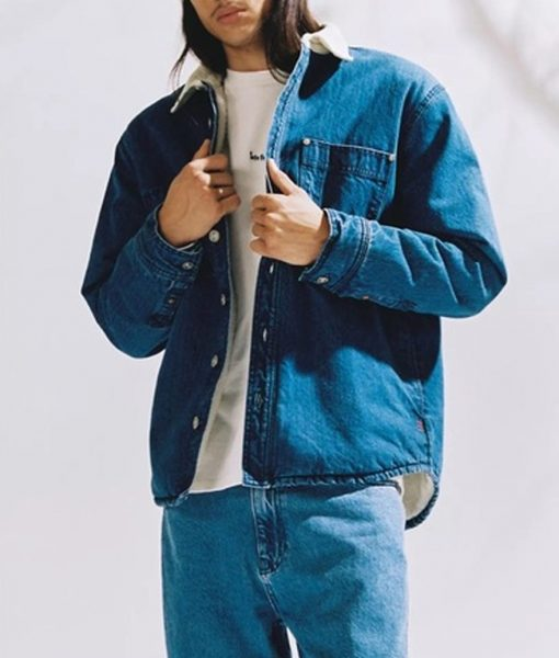 The Flash Season 07 Chester P. Runk Denim Jacket With Shearling Collar