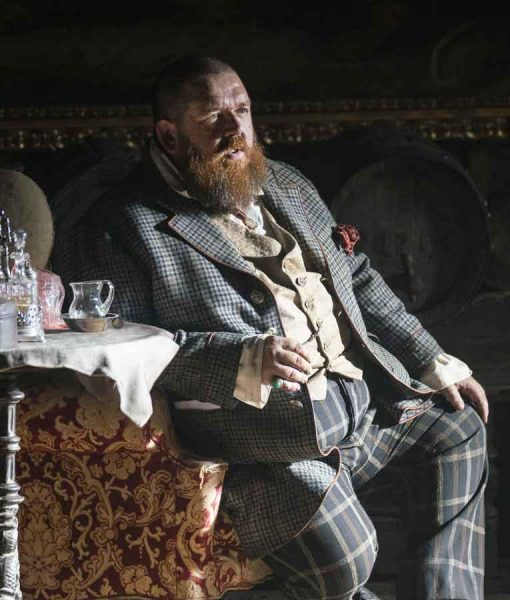 The Nevers 2021 Nick Frost Checkered Coat