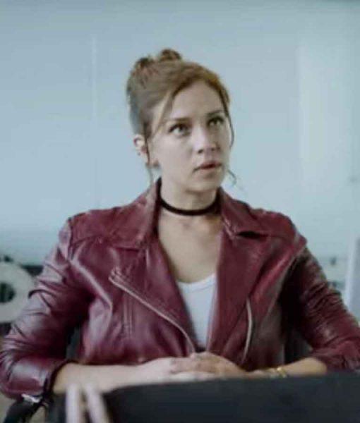 Who Killed Sara 2021 Elisa Maroon Leather Jacket