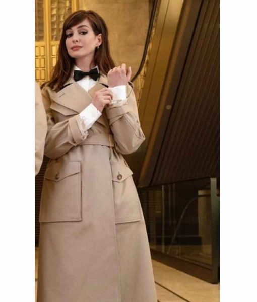 Anne Hathaway Locked down Linda Coat