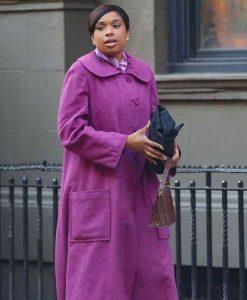 Respect 2021 Jennifer Hudson Purple Coat