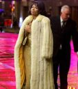 Respect 2021 Jennifer Hudson White Fur Coat