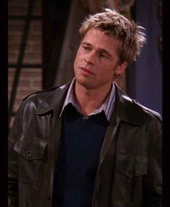Brad Pitt FRIENDS Season 08 Leather Jacket
