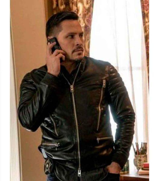 Chicago P.D. Season 04 Kenny Rixton Black Leather Jacket