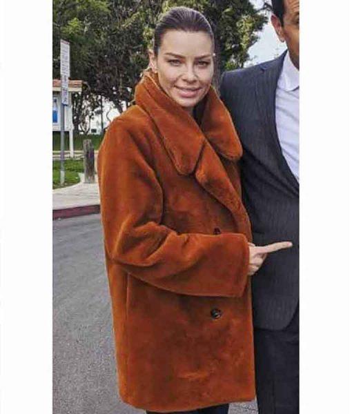 Lucifer S05 Part 2 Lauren German Brown Fur Coat