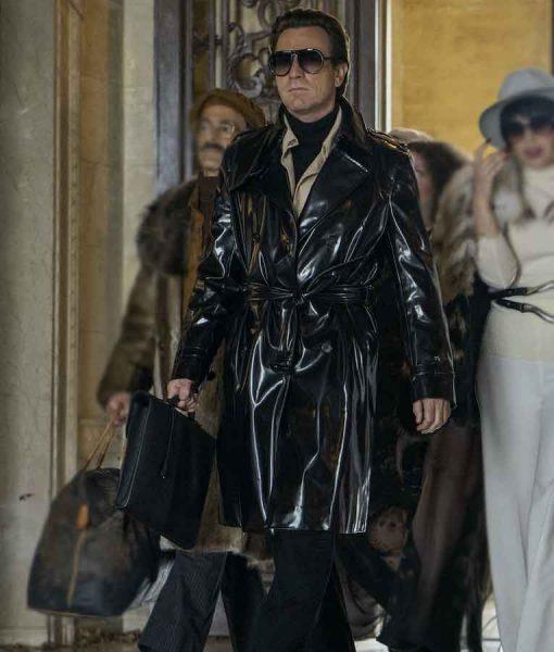 Ewan McGregor Halston Leather Coat