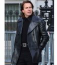 Ewan McGregor Halston Mid-length Leather Coat
