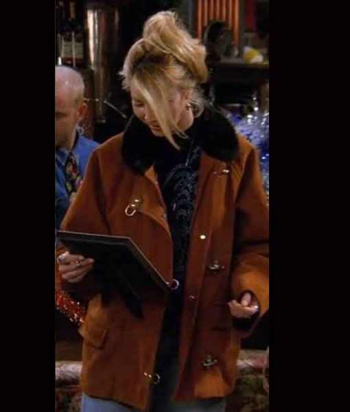 FRIENDS Phoebe Buffay Brown Suede Leather Jacket