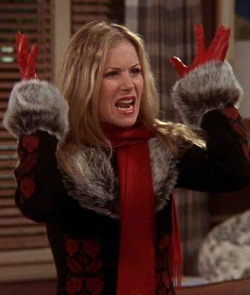 FRIENDS Season 09 Christina Applegate Fur Collar Coat