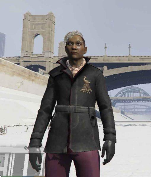 Far Cry 4 Pagan Min Black Leather Coat