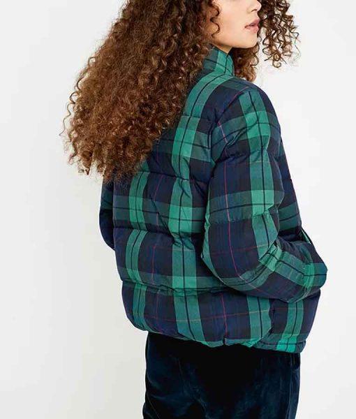 Charlotte Ritchie Feel Good Season 02 George Plaid Puffer Jacket