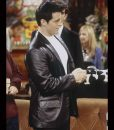Friends Season 06 Joey Tribbiani Black Leather Blazer