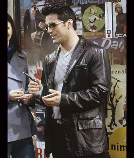 Friends Season 06 Matt LeBlanc Black Leather Blazer