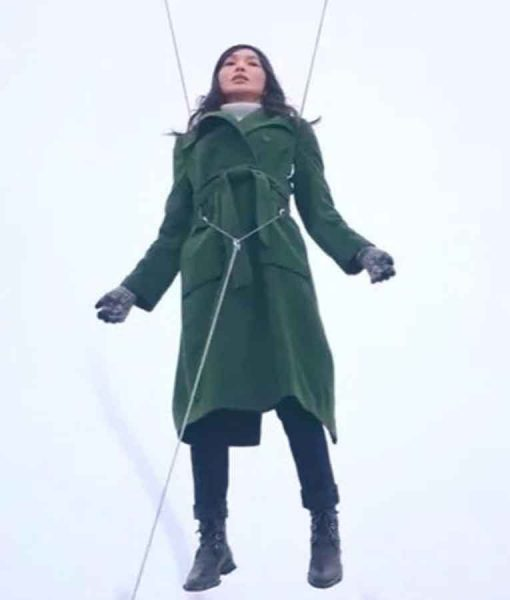 Gemma Chan Eternals 2021 Coat