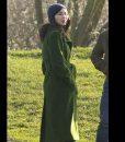 Gemma Chan Eternals 2021 Green Long Coat