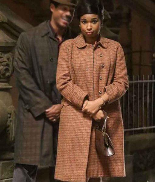 Jennifer Hudson Brown Wool-blend Respect 2021 Aretha Franklin Coat