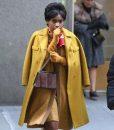 Jennifer Hudson Respect 2021 Yellow Mid-length Coat