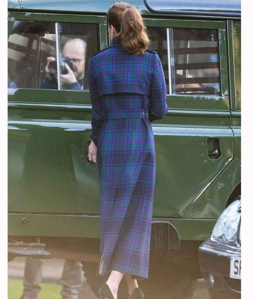 Kate Middleton Holland Cooper Tartan Blue Coat