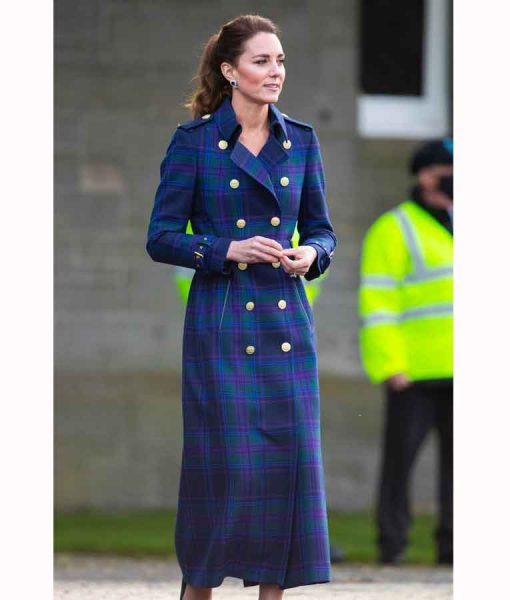 Kate Middleton Holland Cooper Tartan Coat