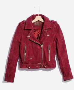 Last Man Standing S08 Mandy Baxter Red Suede Leather Jacket