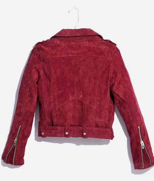 Last Man Standing S08 Mandy Baxter Red Suede Jacket