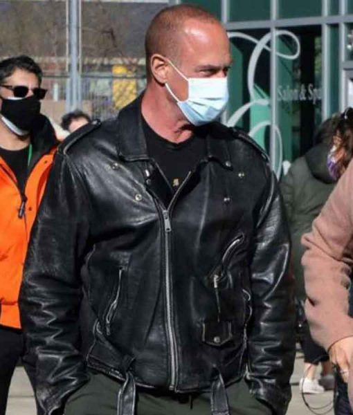 Law & Order Organized Crime Christopher Meloni Motorcycle Leather Jacket