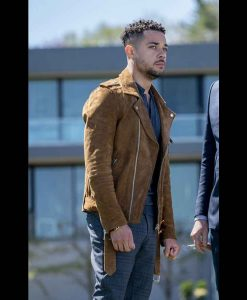 Law & Order Organized Crime Nick Creegan Suede leather Jacket