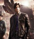 Leon Kennedy Black Resident Evil Infinite Darkness Leather Jacket