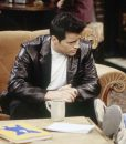 Matt LeBlanc Friends Season 06 Joey Tribbiani Black Leather Blazer