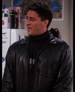 Friends Season 07 Joey Tribbiani Black Leather Jacket