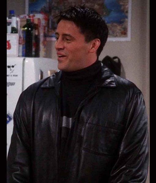 Matt LeBlanc Friends Season 07 Joey Tribbiani Black Leather Jacket