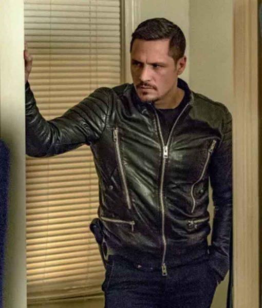 Chicago P.D. Nick Wechsler Bomber Leather Jacket